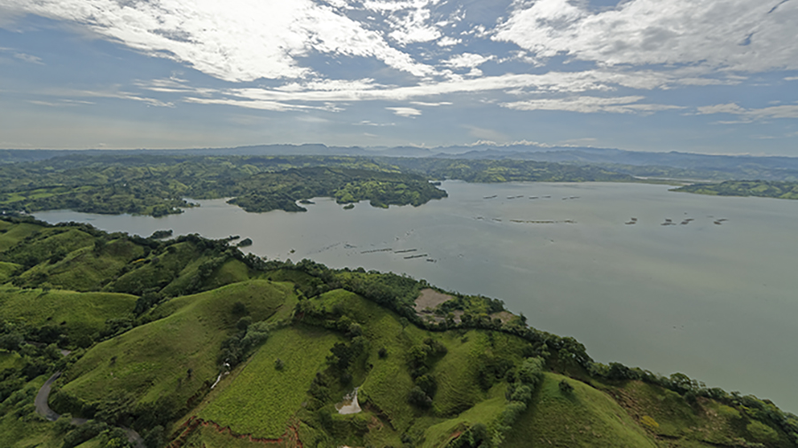 Bird's eye view of Lake Toba