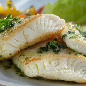 Tilapia-Filets mit Petersilie